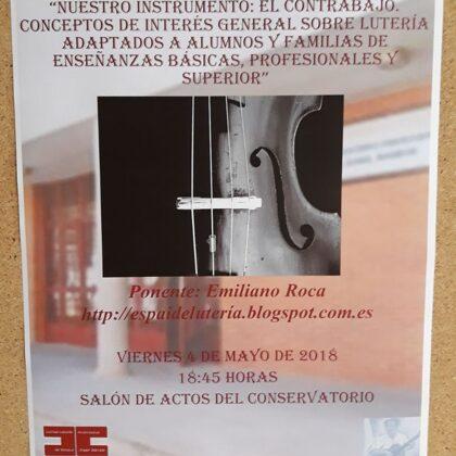 Ponència al Conservatori de Granada 2018